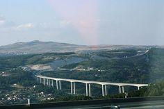 Ponte Auto-estrada A24 - Sobre o Vale de Vila Pouca de Aguiar - Portugal
