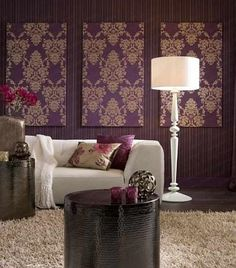 Love Live Survive Home: Ideas For Decorating With Leftover Wallpaper Room Inspiration, Decor, Decor Inspiration, Interior Color Schemes, Interior House Colors, Colorful Interiors, Media Room Paint Colors, Home Decor, Room