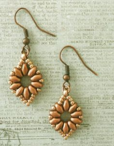 Linda's Crafty Inspirations: Bracelet of the Day: Duo Kheops - Copper & Rose