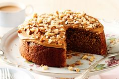 Reduce sugar & add extra instant coffee. Add 1/2 cup of chopped walnuts. Bake for 37 minutes, stand for 5 min.