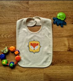 The new super soft and comfy baby boy bibs is made of an organic handmade baby bibs w fox applique organic bib easter gift newborn gift negle Choice Image