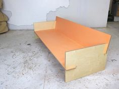 Birch plywood sofa