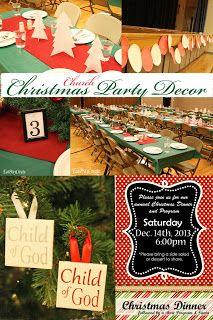 Christmas Party Decor - Ward ideas too
