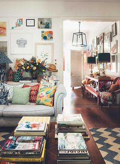 Anna Spiro: Interior designers colourful Brisbane home Home Decor Ideas Living Room Anna Brisbane Colourful designers Home Interior Spiro Gravity Home, Deco Design, Design Design, Home And Deco, Eclectic Decor, Eclectic Style, Cozy Eclectic Living Room, Eclectic Design, Living Room Decor Boho