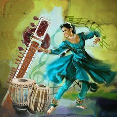 Kathak Dancer 4 Painting