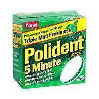 Polident 5-minute Denture Cleanser Tablets - 40 Ea from SMITHKLINE BEECHAM CONSUMER. - Crack Heel - £4.49 - http://crackheel.com/polident-5-minute-denture-cleanser-tablets-40-ea/