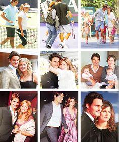 A fabulous couple - love them both Le Tennis, Sport Tennis, Tennis Tournaments, Tennis Players, Beautiful Family, Beautiful Men, Roger Fedrer, Roger Federer Family, Mirka Federer