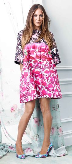 SJP in head-to-toe florals. Spring is here!