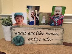 Aunt Personalized picture frame board aunt uncle gift from kids Christmas gift birthday for sister brother from niece and nephew