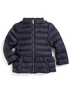 Burberry Toddler's Peplum Puffer Jacket - I want this in my size.