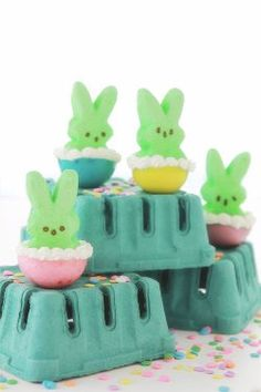 Peep Jello Shot Introduce peeps into your spring party with these colorful jello peep shots! #PEEPS