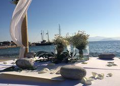 Ceremony Table in Naxos Wedding Destination Wedding, Wedding Planning, Beach Wedding Decorations, Greek Wedding, Beautiful Islands, Greece, Most Beautiful, Weddings, Table