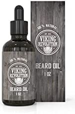 Viking Revolution Beard Oil Conditioner - All Natural Unscented Organic Argan & Jojoba Oils - Softens, Smooths & Strengthens Beard Growth - Grooming Beard and Mustache Maintenance Treatment, 1 Pack : Beauty Moustache, Beard No Mustache, Best Beard Growth, Beard Growth Oil, Thoughtful Gifts For Him, Diy Gifts For Him, Natural Beard Oil, Natural Oils, Best Beard Oil