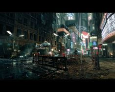 Blade Runner Cyberpunk City, Ville Cyberpunk, Futuristic City, Cyberpunk 2077, Science Fiction, Sci Fi Stadt, Blade Runner Wallpaper, These Broken Stars, Syd Mead