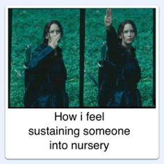 How I feel sustaining someone into nursery