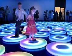 Jen Lewin, The Pool, 2013. Roto molded polypropylene, custom LED strip, custom electronic circuitry. From Jen Lewin: It's Electric at CU Art Museum. © Jen Lewin Studio.