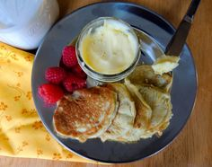 Organic Coconut Flour Pancakes with Bovine Gelatin - gluten free: A bit chalky (as to be expected with a coconut flour recipe), but makes a good low fat paleo sub and includes no dairy - so great for synthroid takers that can't have dairy in the morning.