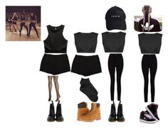 """""""BlackPink"""" by valenndeo ❤ liked on Polyvore featuring beauty, CHROMAT, H&M, L'Agence, Gap, Avenue, Dr. Martens, Timberland and DC Shoes"""