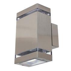 Fali lámpa kültéri 2xGU10 35W IP44, 26x11x10cm hl247 szögletes Horoz.
