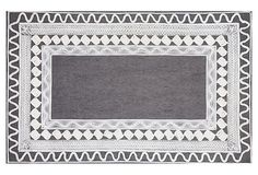 Crochet Outdoor Rug, Slate/White on OneKingsLane.com, $99 - $299