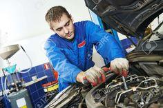 Auto Repairman Industry Mechanic Worker In Car Auto Repair Or ...