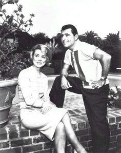 "Inger Stevens & Rod Serling.  Inger appeared in the Twilight Zone episode ""The Hitchhiker""."
