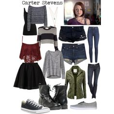 Carter Stevens Style - Finding Carter by fandomlife108 on Polyvore featuring Athleta, Boohoo, A.L.C., NIC+ZOE, ONLY, rag & bone/JEAN, H&M, Express, Converse and Vans