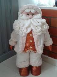 Resultado de imagen para muñecos de papa noel grandes color plata