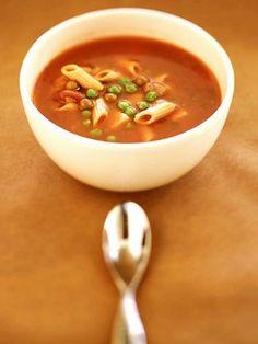 Recette Soupe de tomates à l'italienne, notre recette Soupe de tomates à l'italienne - aufeminin.com