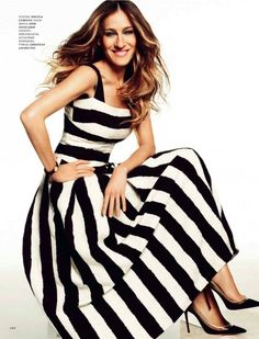 Spring / summer - street & chic style - beach casual look - wide stripped maxi dress