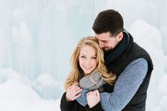 Allison + George's Ice Castle Engagment : Annmarie Swift