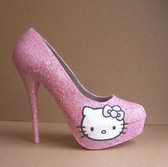 Buy hello kitty high heels shoes for girls and kids. Get the best online hot deal in Hello Kitty high heels shoes. Hello Kitty Photos, Pink Hello Kitty, Hello Kitty Items, Glitter High Heels, Pink Heels, Pink Glitter, Pink Sparkles, Sparkle Shoes, Sparkly Pumps