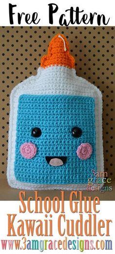 Back to School - School Glue - Kawaii Cuddler - free crochet pattern - amigurumi