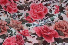 Polyester - Blumen Chiffon schlank, Stoff Chiffon für Kleid - ein Designerstück von svetavol bei DaWanda Designer, Fabrics, Etsy, Painting, Art, Floral Chiffon, Slim, Tejidos, Craft Art