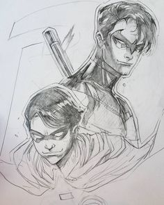 """By Peter Nguyen: """"From #robin to #nightwing , the potential of #dickgrayson"""""""
