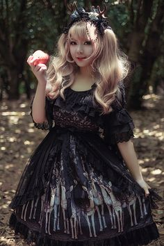 --> #LolitaUpdate: Infanta [-♡♥-Elaphurus Forest-♡♥-] Gorgeous Lolita JSK --> Original Price: 88.99USD | Now Only 78.99USD --> Learn More: http://www.my-lolita-dress.com/infanta-elk-series-gorgeous-lolita-jsk-inf-340