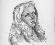 The Art of Sylvia Plath: Revisit Her Sketches, Self-Portraits, Drawings & Illustrated Letters --- sylvia plath self portrait 2