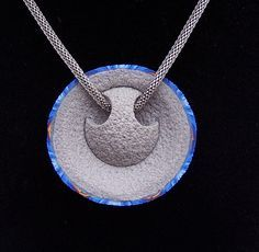 Neat way to attach a chain or cord to a Polymer Clay Pendant | Large Light Easy Back Pendant