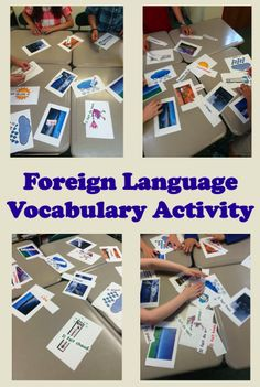 Everyone to the Table: Foreign Language Vocabulary Activity Foreign (World) Language Vocabulary Activity (French, Spanish) wlteacher. Vocabulary Practice, Vocabulary Activities, Language Activities, Vocabulary Meaning, Spanish Vocabulary Games, Vocabulary Strategies, Listening Activities, Spelling Activities, Vocabulary Building