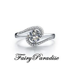 1 ct Round Cut Channel Set Solitaire Engagement Ring   Promise Rings in  Solid 925 Silver Platinum Plated eee36c2672eb