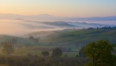 A nice sunrise in Orcia Valley, Tuscany, Italy