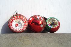 Vintage Christmas Ornaments Mid Century by PaperWoodVintage, $7.00