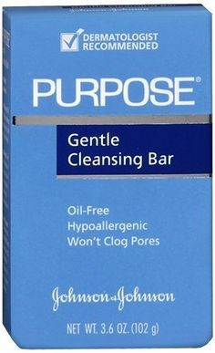 Purpose Gentle Cleansing Bar - 3.6 Oz/ Pack, 4 Pack by J HEALTHCARE. $14.59. This mild, effective lathering bar removes dirt and oil without over drying.. Hypoallergenic.. Purpose Gentle Cleansing Bar is a gentle Cleansing. Purpose Gentle Cleansing Bar dermatologist recommended. Purpose Cleansing Bar oil free. Hypoallergenic. Purpose Cleansing Bar Wont clog pores. Gentle Cleansing. This mild, effective lathering bar removes dirt and oil without over drying. I...