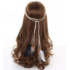 Hippie Indian Feather Headband Hairband Carnival Headdress Bonfire Fascinators