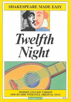 Teaching Twelfth Night is made easy with this side-by-side text. My favorite Shakespearean comedy. A love story of mistaken identities complete with Shakespeare's wonderful use of language. Shakespearean Comedy, Media To Share, Shakespeare Plays, Modern English, Twelfth Night, Junior Year, Quality Time, Textbook, Love Story