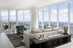 I love the model rooms in this Miami condo development, Paramount Bay. Whew, what a view!