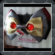 Starlord Girls Inspired Hair Bow, Cassette Tape, Vintage style, Geeky Girl, Super Hero Theme