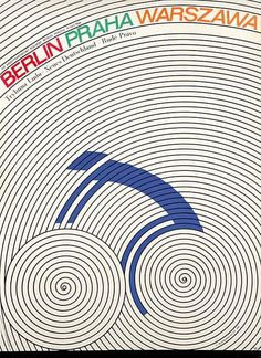 """Cycling Poster by Leszek Hołdanowicz for """"The 21st International Peace Race"""" (1968)"""
