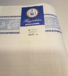 Szwedzki nowy tkany materiał lniany na 6 ściereczek. Linen Towels, Tea Towels, Same Love, Scandinavian Home, Linen Fabric, 1960s, Pure Products, Vintage, Dish Towels