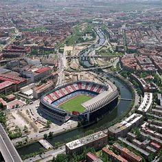 Stadium Vicente Calderon. ATLETICO DE MADRID, MADRID RIO